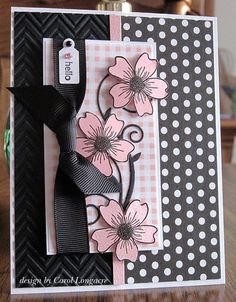 I love pink and black together; this would be beautiful using similar SU products