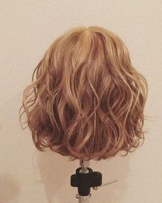 Short Permed Hair, Short Curly Haircuts, Curly Hair Cuts, Permed Hairstyles, Curly Hair Styles, Digital Perm Short Hair, Korean Short Hair, Hair Arrange, Ash Blonde Hair