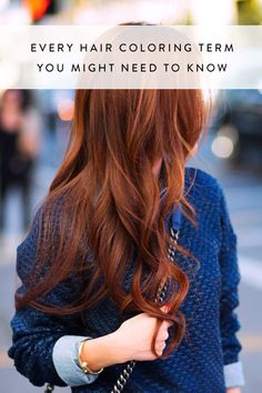 Every Hair Coloring Term You Might Need to Know via @PureWow