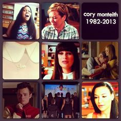 """""""The Quarterback"""" Rest in Love #Finn... Santana's song though!?  #Glee was Heartbreaking, they all did great for #FinnHudson. #CoryMonteith"""