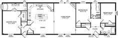 The Gourmet Kitchen Love this mobile home! A gourmet kitchen and skylights! They make mobile homes nice these days! Modular Home Floor Plans, House Floor Plans, Western Canada, Skylights, Mobile Homes, Modular Homes, Cool Things To Buy, The Unit, How To Plan