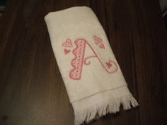 Embroidered Alphabet Towel: Alphabet of the Month by MillineryMary