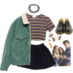 quarante-deux by erinstyle on Polyvore featuring mode, Dr. Martens and American Apparel