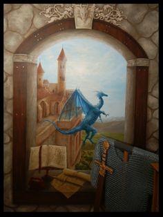Trompe l 39 il on pinterest murals arches and street art - Trompe loeil hoofd bed ...
