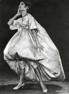Christian Dior 1960 Evening Dress, Oriental Style, Burg