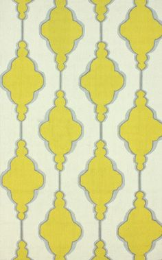 Macara Trellis 100% Wool Hand-Hooked Area Rug in Gold design by NuLoom