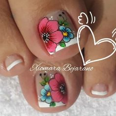 Pretty Toe Nails, Pretty Toes, Toe Nail Art, Manicure And Pedicure, Nail Designs, Pretty Pedicures, Best Nails, Feet Nails, Pretty Nails