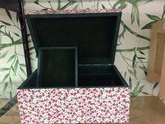 Caixa MDF com interior de veludo e tecido de algodão autocolante Facinos.