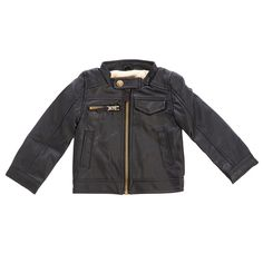 Baby Boys Faux Leather Jacket (12-24m)