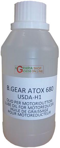 REBER OLIO PER MOTORIDUTTORI ELETTRICI GEAR ATOX 680 USDA-H1 https://www.chiaradecaria.it/it/accessori-per-passapomodori/15273-reber-olio-per-motoriduttori-elettrici-gear-atox-680-usda-h1.html
