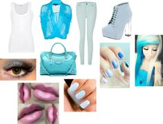 """""""Shopping On a Feeling Blue Day ;P"""" by crystalblack6 on Polyvore"""