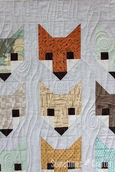 Sometimes Crafter Longarm Quilting // Angela's Fox Quilt // woodgrain quilting Longarm Quilting, Free Motion Quilting, Machine Quilting, Fox Quilt, Cute Sewing Projects, Fox Fabric, Baby Blanket Crochet, Crochet Baby, Irish Crochet
