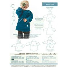 Patron de couture sweet capuche Minikrea 30500