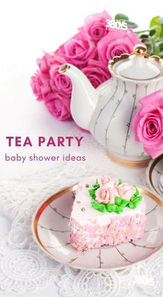ideas cake pink baby tea parties for 2019 Baby Tea, Baby Shower Cakes For Boys, Tea Party Baby Shower, Baby Shower Invitations For Boys, Baby Boy Shower, Baby Showers, Cute Baby Shower Ideas, Elegant Baby Shower, Floral Baby Shower