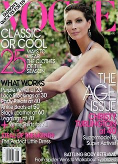 Vogue US August 2009 - Christy Turlington