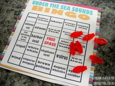 Under the Sea Sounds Bingo - A fun summer printable for kids!