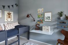 Want your home to feel calm and serene with a touch of Scandinavian style? Keep reading and get inspired by classic blue interior Kids Bedroom, Bedroom Decor, Blue Coffee Tables, Dark Blue Walls, Cool Kids Rooms, Scandinavian Interior, Kid Spaces, Home Decor Inspiration, Decoration