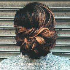 For when I don't want my hair down #updo #braided #highlights