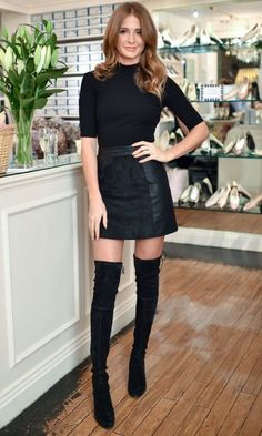 Millie Mackintosh Is Our Over-The-Knee Boot Inspo - Thursday 19th November #highheelbootsknee