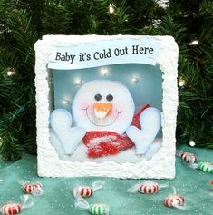 Nicole™ Crafts Baby It's Cold Out Here #christmas #glassblock