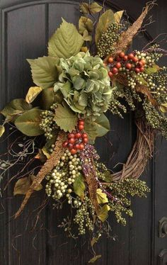 Beautiful spring wreath Decor idea for your home 03 – Home Sweet Home – Wreaths Thanksgiving Wreaths, Autumn Wreaths, Holiday Wreaths, Holiday Decor, Fall Door Wreaths, Outdoor Wreaths, Rustic Wreaths, Christmas Door Decorations, Christmas Trees