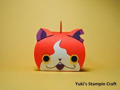 スタンピンアップ (Stampin' Up) カーヴィー・キープセイク ボックス (Curvy Keepsake Box) ダイを使って 妖怪ウォッチ ジバニャン!