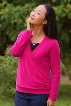 Itch to Stitch Medellin Top PDF Sewing Pattern | For a lightweight sweater knit.