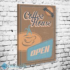 Vintage Coffee House Tablo #tipografi_tablo #tipografik_tablo #tipografi_kanvas_tablolar