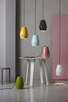 Bell is a series of shiny porcelain pendant lights by Northern Lighting. #Nordic #Scandinavia