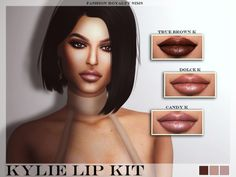 The Sims Resource: Kylie Lip Kit - Set 01 by FashionRoyaltySims • Sims 4 Downloads