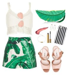 """""""Tropical Taste"""" by champainechic on Polyvore featuring Dolce&Gabbana, Miu Miu, River Island, Kate Spade, Ray-Ban, Yves Saint Laurent, Bebe and MICHAEL Michael Kors"""