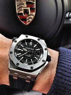 Audemars Piguet, men's luxury watch. Best Watches For Men, Fine Watches, Luxury Watches For Men, Cool Watches, Rolex Watches, Burberry Men, Gucci Men, Hermes Men, Versace Men