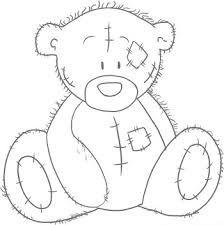 Teddy baby digi stamp line drawing ausmalbilder - Wandtattoo barchen ...