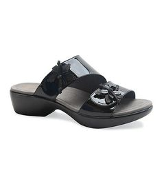 Look what I found on #zulily! Black Patent Leather Donna Sandal - Women #zulilyfinds