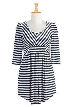 Nautical Stripe Knit Tops, Fashion For Women Womens designer clothes - Embellished Tops, Plus Size Tops, Tunic Tops, Womens Long Sleeve Tops...