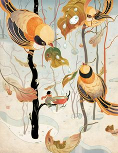 25岁福布斯榜中国女插画师 | 上可绘史诗,下可画童趣