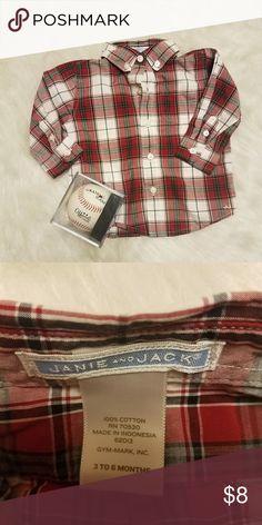 Janie And Jack Long Sleeve - Just Like New - Button Down Janie and Jack Shirts & Tops Button Down Shirts