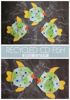 Recycled CD Fish - Kid Craft Idea
