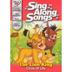 Disney's Sing Along Songs - The Lion King Circle of Life - - Now, only on Disney DVD . sing, dance, and learn along with your favorite Disney songs! Join Disney's most beloved characters in their mo Disney Princess Songs, Disney Movie Club, Disney Songs, Disney Movies, Disney Karaoke, Princess Quotes, Disney Quotes, Disney Christmas Songs, The Jungle Book 2