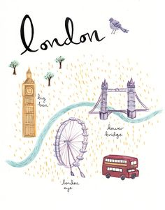 I'm talking to Emma Block in this months etsy shop find. Emma is an illustrator from London and she creates the most beautiful artworks. Moleskine, Dancing Drawings, Big Ben London, Travel Illustration, Paris Illustration, Freebies, London Life, Travel Maps, Personalized Stationery