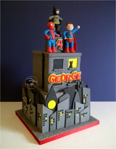Superheroes! - Cake by CakeyCake
