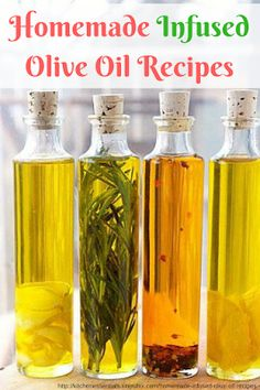 Homemade Infused Olive Oil Recipes are easy to make it just takes a little bit of time. The italian herb infused olive oil is great fo. Flavored Oils, Infused Oils, Homemade Gifts, Diy Gifts, Homemade Food, Diy Food, Sauce Dips, Garlic Infused Olive Oil, Lemon Olive Oil