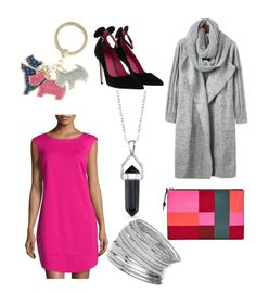 """got pink?"" by deb-kaiser on Polyvore featuring FOSSIL, Laundry by Shelli Segal, Belk Silverworks, Oscar Tiye, Miss Selfridge and Radley"