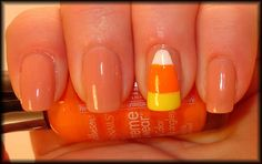 candy corn halloween nails!