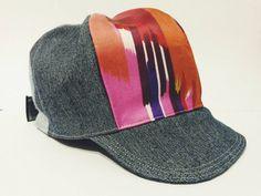 Baseball Trucker Cap Newsboy Hat Denim Pink by RAILOclothing