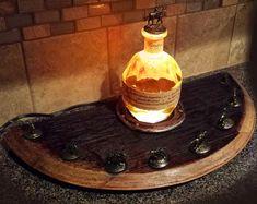 Bourbon bouteille Bouchon Bouchon Canon affichage fer à cheval de bony éclairée Blantons glorifier