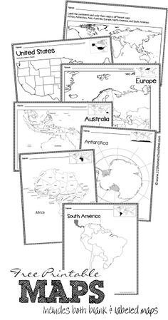 46ac25b1bc0a Help kids learn the different countries of the world with these printable  World Maps of 9