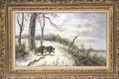 Max Heichele Winterlandschaft Wildschweine