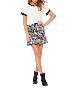 White & black trim short-sleeved top Sale - MILLIE MACKINTOSH Sale