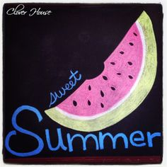 Clover House: Chalkboard Art for Summer